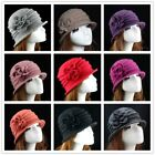 Women 100% Wool Felt Vintage Elegant Flanging Dome Beanie Skiing Hat cloche Cap