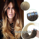 Seamless Tape in PU Weft Remy Human Hair Extensions Ombre T Color 6/20 16''-24''