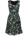 Joe Browns Green Print ALL SEASONS Sleeveless Dress PLUS SIZES 14 to 30
