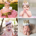 Infant Baby Girl Kids Lace Flower Crown Headband Headwear Hair Band Accesseries