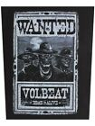 Volbeat Wanted Black Back Patch