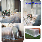 Sparkle Champagne Blush Sequin Tablecloth For Wedding/Event/Party/Banquet 60x102
