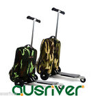 5Colours Detachable Scotter Suitcase Backpack Luggage Carry On Wheels EVA Travel