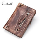 2016 New Fashion Genuine Leather Wallets Men Coin Purse Men's Long Zipper Wallet
