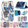 3D Leather Case Skin Stand Card Wallet Cover For Samsung Galaxy  Models