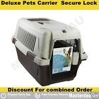 Pet Carrier Carry Bag Plastic Cage Airline Travel Portable Secure Lock Deluxe