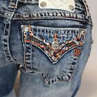 Miss Me Travelin' Band Signature Boot Cut Lowrise Stretch Jeans JP8637B NEW!
