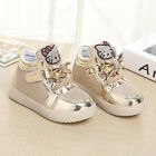 Children's shoes baby with LED, fashion hello kitty beautiful little Girls princ
