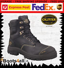 Oliver Work Boots Steel Toe 55345 Black Lace-Up Safety Brand New!