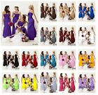 STOCK New Hot Prom Long Party Bridesmaid Satin Wedding Evening Dress Size 6-26