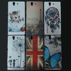 Tiger Rainbow Girl Back hard case cover For Sony Xperia Z C6601 C6602 C6603 L36H