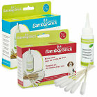 Dog Cat Ear Cleaning Kit Cotton Bud Bamboo Sticks & Wax Removing Lotion Set