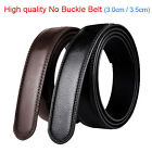 "Large size 30""-57"" High quality Mens Leather Belt No Buckle Belt Width 3.0-3.5cm"