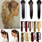 real as human wrap around ponytail clip in hair extensions blonde brown new lb10