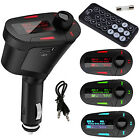 USB Car Kit MP3 Player Wireless FM transmitter Modulator LCD Remote Blue Green R