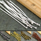 Внешний вид - 100PCS Silver Gold Plated Ball Head Pins Jewelry Finding 16/20/30/40/50mm