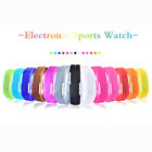 Fashion Men/Women Sport LED Waterproof Rubber Bracelet Digital Date Wrist Watch