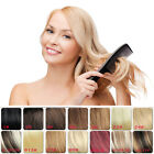 """Women 14"""" 70g Straight Black Brown Blonde Clip in Remy Human Hair Extensions"""