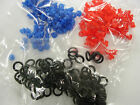 silicone nipple grommets -black o ring approx 100 per bag