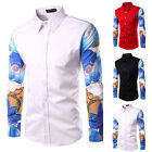Fashion Mens Button Casual Stylish Slim Fit Long Sleeve Casual Dress Shirts Tops
