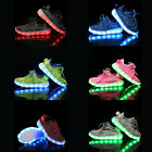Unisex LED Light Lace Up Luminous Shoes Sportswear Sneaker Luminous Kids Shoes