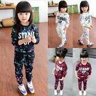 Toddler Kids Baby Girls Outfits Clothes T-shirt Tops Dress+Long Pants 2PCS Set