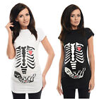 Skeleton-Adorable Slogan Cotton Printed Maternity Pregnancy Top T-shirt 2003d