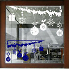 CHRISTMAS  WALL STICKERS XMAS Shop Window Stickers XMAS BAUBLES STICKERS N102