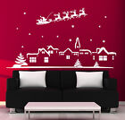 XMAS WALL STICKER  XMAS Shop  Window Stickers XMAS SANTA WALL STICKER DECAL N103