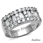 1.45 CT ROUND CUT CZ STAINLESS STEEL WIDE BAND FASHION RING WOMEN'S SIZE 5-10
