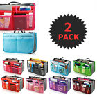 Travel - 2 X Large Purse Organizer Insert Pack Women Travel Set Handbag Liner Tidy Dual