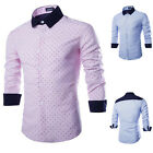 Fashion Men's Slim Fit Shirt Long Sleeve Button Dress Shirts Casual Shirts Tops