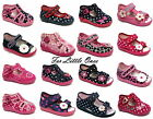 Girls canvas shoes slippers trainers sandals baby kids toddler size 3 - 9 UK