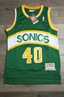 Shawn Kemp #40 Seattle SuperSonics Green Swingman Basketball Vintage Retro New