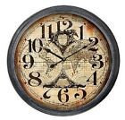 "Extra Large Glass Front Retro Shabby Chic Wall Clock 93cm Diameter (36"" +) 8260"