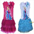 DISNEY FROZEN QUEEN ELSA AND ANNA DRESS COSTUME OUTFIT SET SIZE 2,3,4,5,6,8