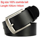 Big size Fashion Top quality Mens Belts 100% cowhide Leather Waist size 30-53""