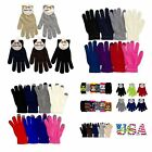 Внешний вид - Casual Knit Magic Gloves Touch Screen Plain Warm One Size Basic Men Women Kids