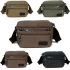 Men's Vintage Canvas Schoolbag Satchel Shoulder Messenger Bag Laptop Cross Bag