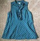 Anthropolgie Odille Short Sleeve Ruffle Front Blouse Sz 8