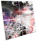 Abstract Grunge Design CANVAS WALL ART MULTI Square Print