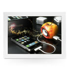 Apple iPhone Plugged Into Apple - Personalised Padded Lap Tray Laptray L0223