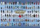 Vintage Star Wars Poster 104 Action Figures Checklist Kenner Palitoy Guide Print
