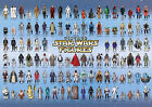 Vintage Star Wars Poster 104 Action Figures Checklist Kenner Palitoy Guide Print $25.91 USD on eBay