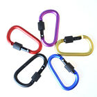 5/10 Pack Aluminum Carabiner D-Ring Clip Hook Camping Keychain Screwgate Locking