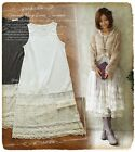 Mori Gilrs Hollow Lace Splicing Bottoming Sleeveless Vest Dress Lolita#10-T-50