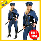 Ladies Costume Fancy Dress RD Halloween Police Cop Secret Wishes PLUS 16-18