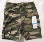 Jumping Beans Boys Shorts Size 3 or 18 months Camouflage Green New