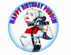 Harley Quinn Suicide Squad Superhero Custom Party Cake Decoration icing sheet