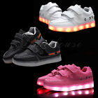 New LED Light Up Shoes Kids Boys Girls Child Luminous Causal Sneakers Trainers